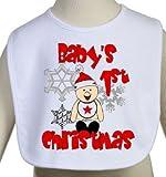 Baby's First Christmas Holiday Bib