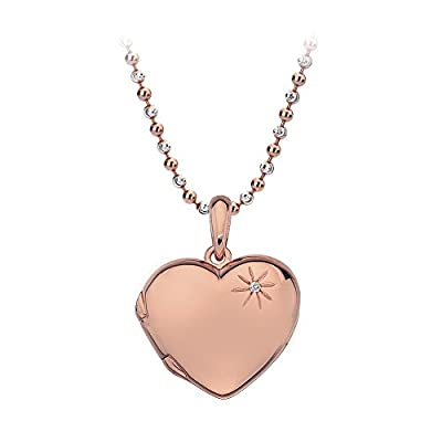 Hot Diamonds Memoirs Heart Locket Pendant with Chain of Length 40-46cm Extension