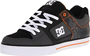 DC Men's Pure SE Sneaker,Orange/Black,9 M US