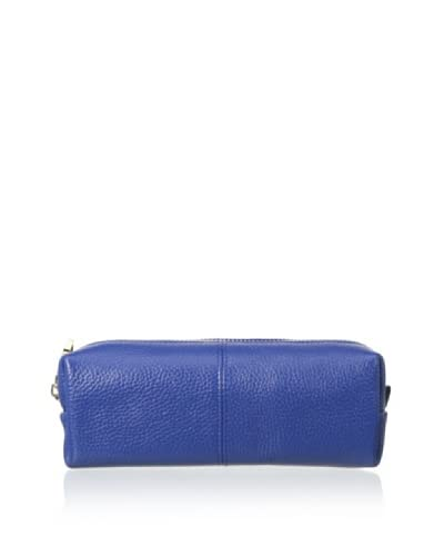 Zenith Women's Leather Cosmetic Bag, Cobalt