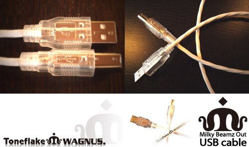 Toneflake×WAGNUS. Milky Beamz Out USB cable 2.0m