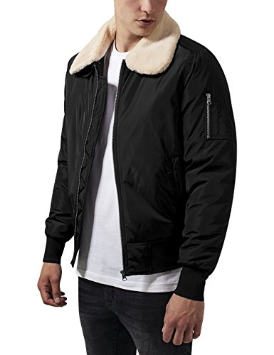 Urban Classics Pilot Bomber Jacket, Giacca Uomo, Nero (Black 7), Medium