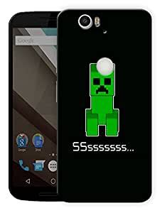 """Shhh Minecraft Printed Designer Mobile Back Cover For """"Google Nexus 6 Plus"""" By Humor Gang (3D, Matte Finish, Premium Quality, Protective Snap On Slim Hard Phone Case, Multi Color)"""