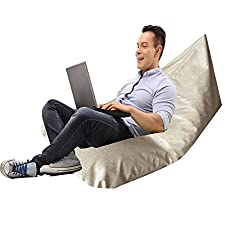 BIGMO Twist Bean Bag Lounger In Faux Leather With Beans- 26 inches X 46 Inches -Good till 85 kgs of weight.