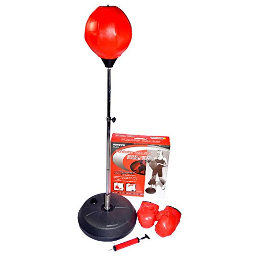 Adjustable Free Standing Punching Speed Ball Bag With Boxing Gloves (Bag Freestanding compare prices)