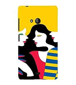 PrintVisa Gossip Girls Art 3D Hard Polycarbonate Designer Back Case Cover for Nokia Lumia 540