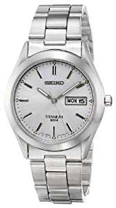 Seiko Men's SGG705 Titanium Bracelet Watch by Seiko