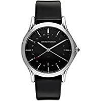 Emporio Armani ARS1100 Classic Men's Swiss Quartz Dress Watch (Stainless Steel and Black Leather )