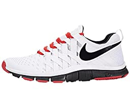 Nike Men\'s Free Trainer 5.0 White/Black/Lt Crimson Training Shoe 8.5 Men US