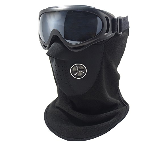 [Monozy] MONOZY tactical goggle face mask [set of 2] [available in colors: light (75 g 30 g) elasticity shock wind dust for skiing / snowboarding / sabage / cycling / outdoors / touring / winter sports goggles face mask (grey).