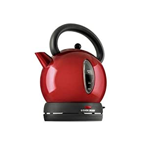 Black & Decker CK1500R Cordless Electric Dome Kettle, Red by Black & Decker