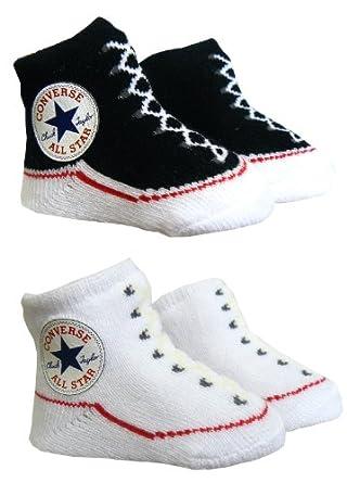 Amazon Converse Baby Booties Socks Black White