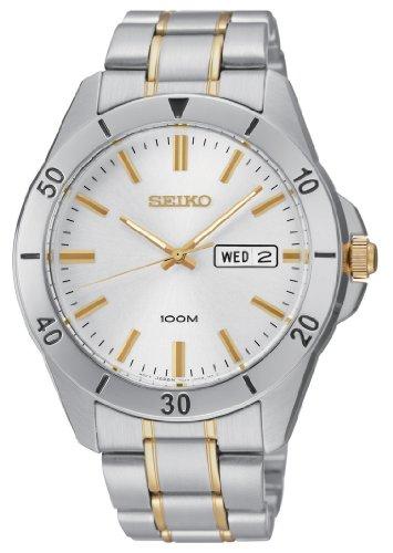 Seiko Damen-Armbanduhr Damenuhren Analog Quarz Edelstahl beschichtet SGGA81P1