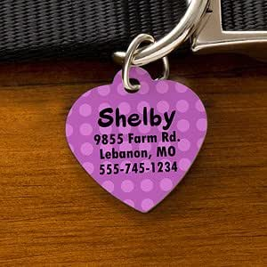 Personalized Pet ID Tags - Heart