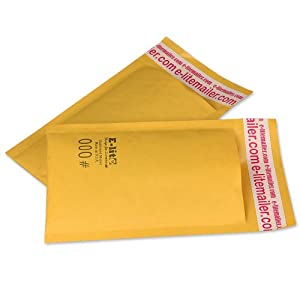 250 #000 4 x 8 PREMIUM US MADE KRAFT BUBBLE MAILERS PADDED ENVELOPE BAGS