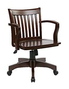 OSP Designs Deluxe Finish Wood Bankers Chair