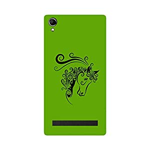 Skintice Designer Back Cover with direct 3D sublimation printing for Intex Aqua Power Plus