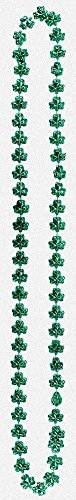 St. Patrick's Day Small Shamrock Bead Necklace 36in - 1