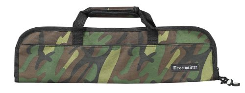 Messermeister 5-Pocket Padded Knife Bag, Camouflage