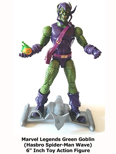 "Review: Marvel Legends Green Goblin (Hasbro Spider-Man Wave) 6"" Inch Toy Action Figure"