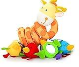 Edealing 2 piezas de la jirafa del beb� infantil Cuna Toy abrigo alrededor de juguetes Anillo Cuna Rail Animal Cochecito suaves para beb�s M�sica Juguetes educativos