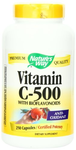 Nature's Way Vitamin C 500 with Bioflavonoids, 250 Capsules
