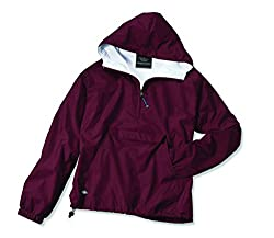 Charles River Apparel Women's Front Pocket Classic Pullover,Small,Maroon