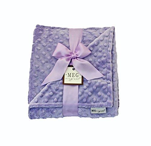MEG Original Lavender Baby Girl Minky Dot Blanket