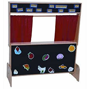 Deluxe Puppet Theater with Flannelboard by Wood Designs