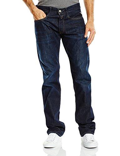 Replay Herren Straight Leg Jeanshose NEWBILL, Gr. W32/L32 (Herstellergröße: 32), Blau (Blue Denim 7) thumbnail