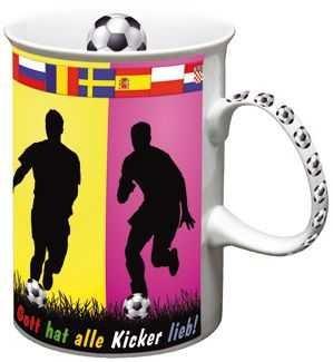 Fototasse Gott hat alle Kicker lieb!