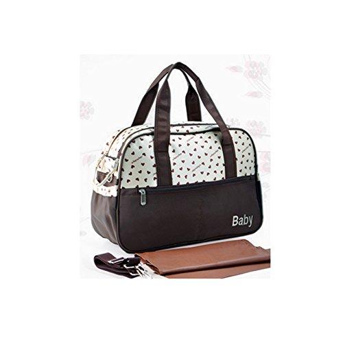 Retro Mommy Bag Waterproof Baby Diaper Bag-Khaki