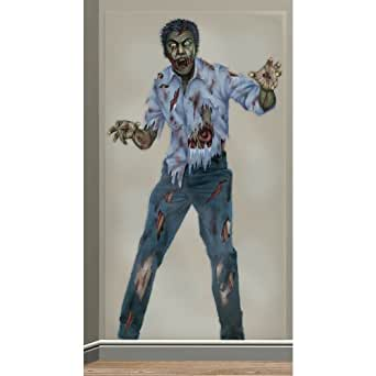 Amscan Mens Zombie Halloween Photo Backdrop