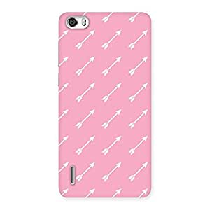 Pink And Arrow Multicolor Back Case Cover for Honor 6