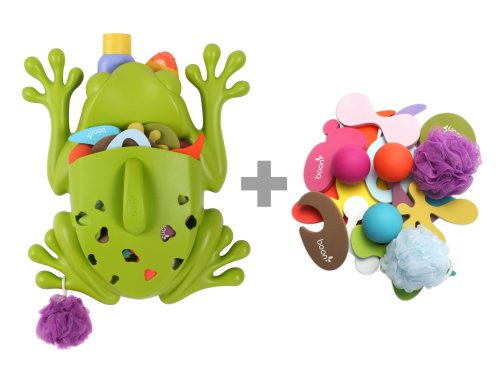 Boon Frog Pod Deluxe with Bath Toys