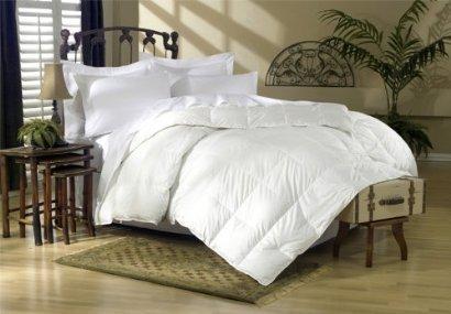 LUXURIOUS 1500 Thread Count King Size 1500TC Goose Down Comforter 750FP, 50oz, White Color, 100% Egyptian Cotton 1500 TC