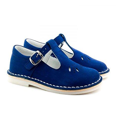 Boni Classic Shoes - Sandali Bambino , Blu (scamosciato blu), 30