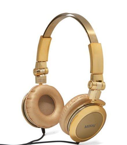 Miikey Miibling Gold Aluminum Headphone With Microphone & Hd Audio