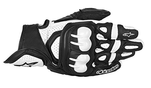 3567013 12 L - Alpinestars GPX Motorcycle Gloves L Black/White