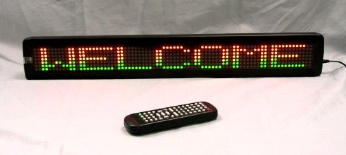 One Line Multi-Color Led Programmable Display Sign