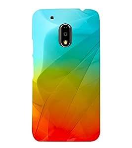 Colourful Fluidic Design 3D Hard Polycarbonate Designer Back Case Cover for Motorola Moto G4 Plus :: Moto G4+