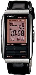 Casio #LA201WBL-1A Women's Futurist Leather Band Alarm Chronograph Digital Watch
