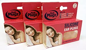 Hush Plugz Silicone Earplugs x 3 packs