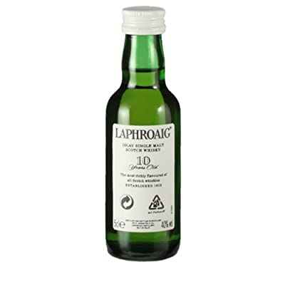 Laphroaig 10 year old Single Malt Scotch Whisky 5cl Miniature from Laphroaig