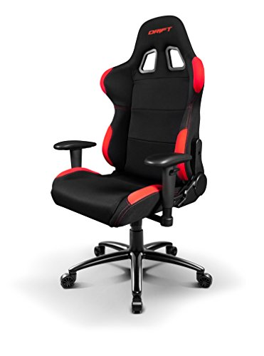 Drift-DR100-Sedia-per-Gaming-Tela-NeroRosso-48x615x129-cm