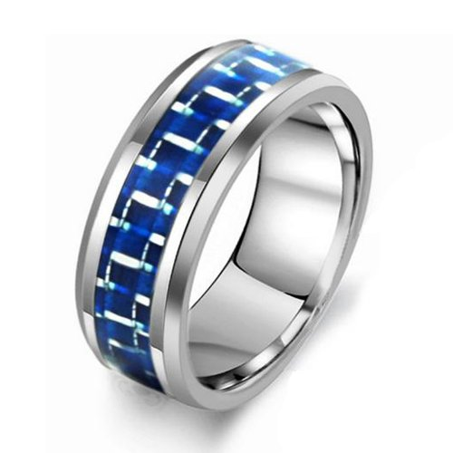 The Lord of Rings Fashion Tungsten Carbide Ring Toy Game Ring Mens Jewelry Gold Black Silver Celtic Dragon (141, 8)