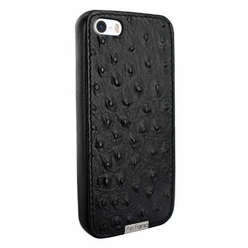 Special Sale Apple iPhone 5 / 5S Piel Frama Black Ostrich FramaGrip Leather Cover