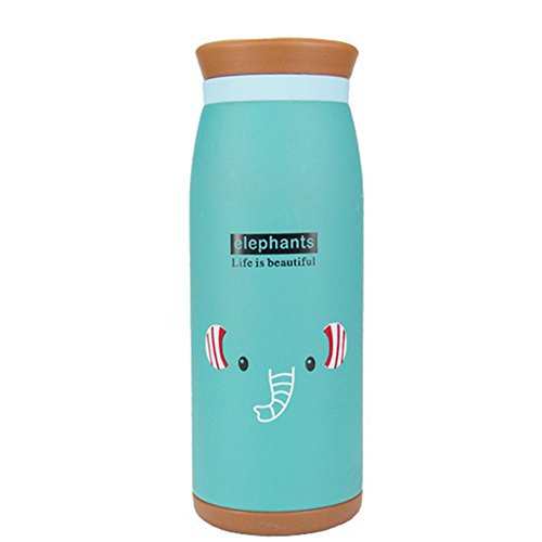 Spesso 500ml Bambini Acciaio Inox Coppa Isolations Cartoon tazza-Thermos/Thermo bicchieri Cute Cups tazze ufficio bicchieri bollitore elettrico blu