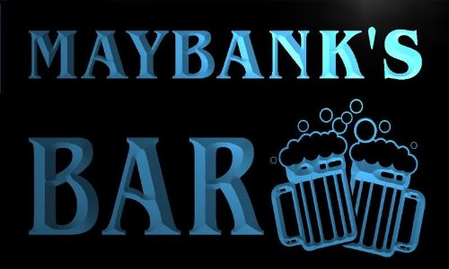 w059538-b-maybank-name-home-bar-pub-beer-mugs-cheers-neon-light-sign-barlicht-neonlicht-lichtwerbung