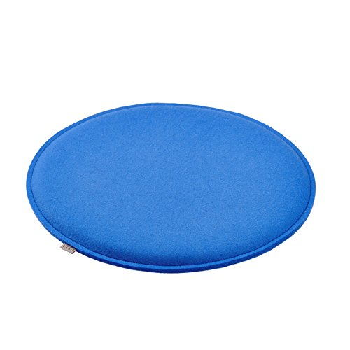 sitzkissen stuhl kissen rund gepolstert 100 merino filz 3mm gr e 36 cm farbe mittel blau. Black Bedroom Furniture Sets. Home Design Ideas